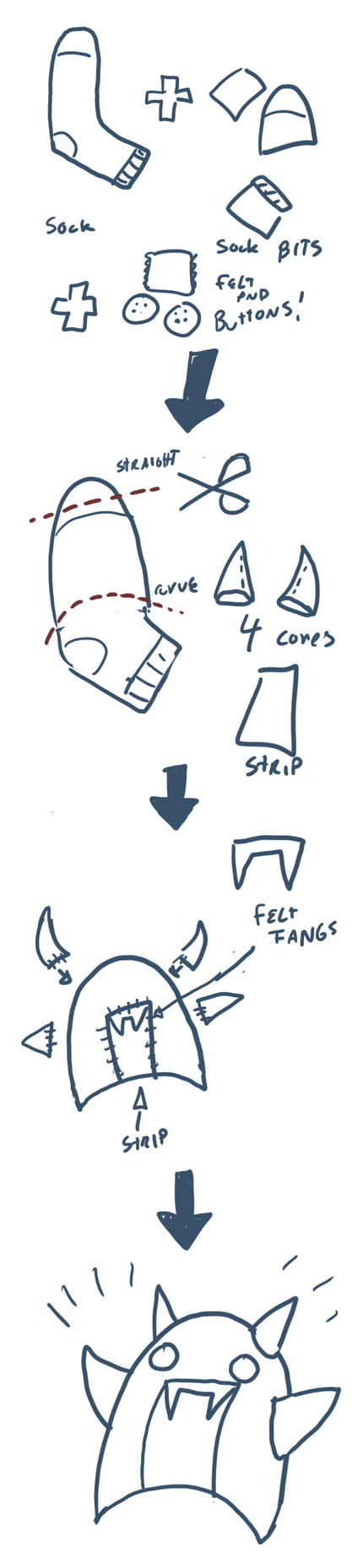How to make a sock demon by RomanJones