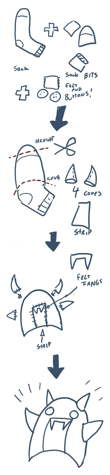 How to make a sock demon by RomanJones