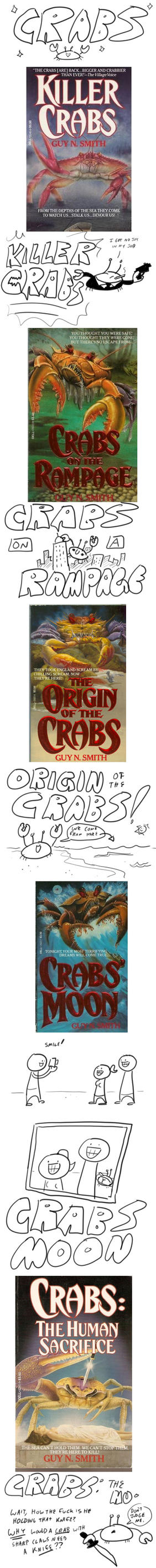 Ugly Book Cover Art : Ugly book covers crabs collection by romanjones on deviantart