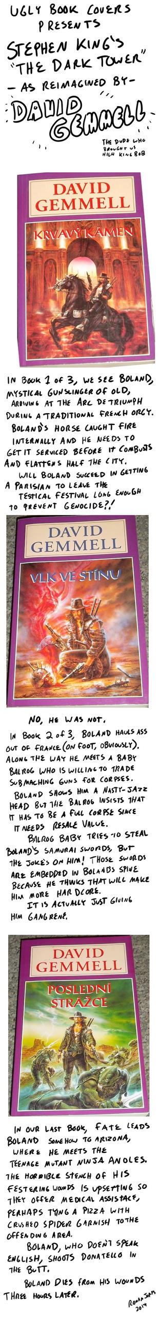 Ugly Book Cover Art : Ugly book covers boland the gunslinger by romanjones on
