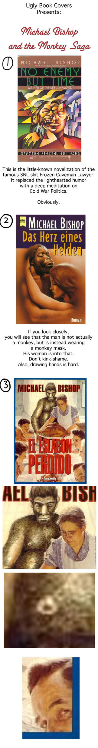 Ugly Book Cover Art : Ugly book covers michael bishop loves monkeys by