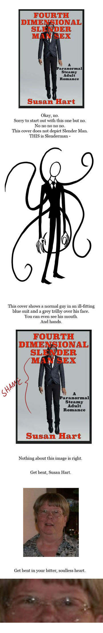 Ugly Book Covers: 4th Dimensional Slender Man Sex by RomanJones