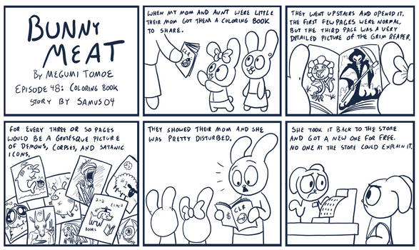 Bunny Meat 48: Coloring Book