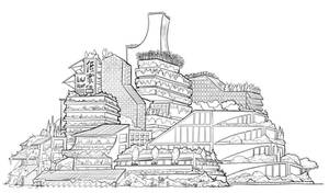 City scape lines