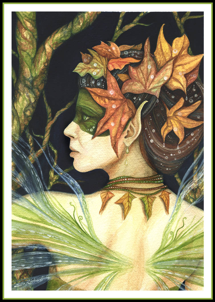 Woodland Faerie Queen by DragonTreasureArt