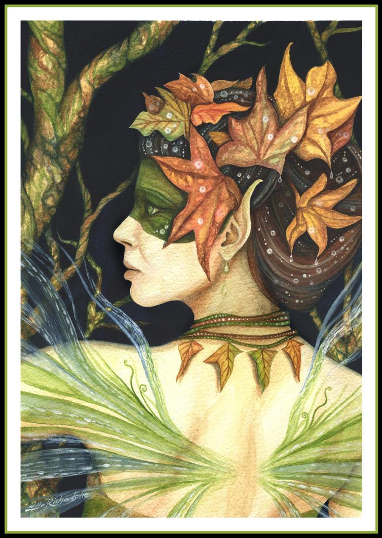Woodland Faerie Queen by DragonTreasureArt