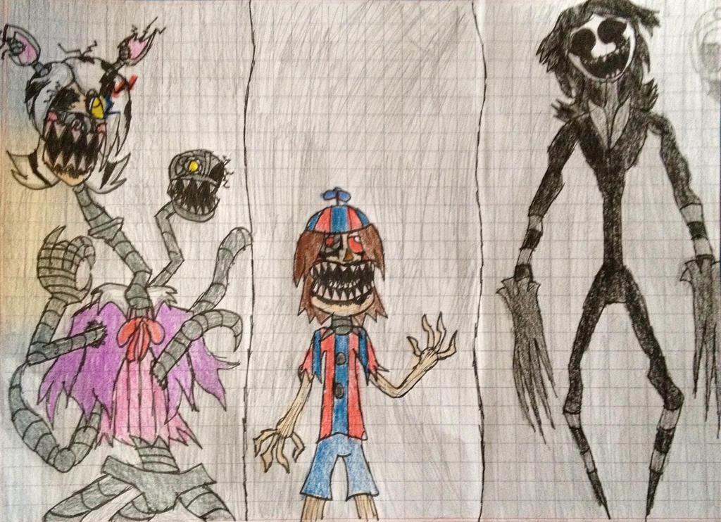 FNAF 4 anime version halloween update by CrazyMegaArtist on DeviantArt