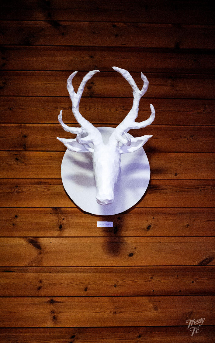 A Paper Mache, Deer Trophy by Tressytc