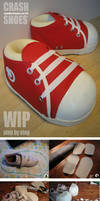 Crash Bandicoot Cosplay Shoes - WIP and HOW TO