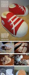 Crash Bandicoot Cosplay Shoes - WIP and HOW TO by Semashke
