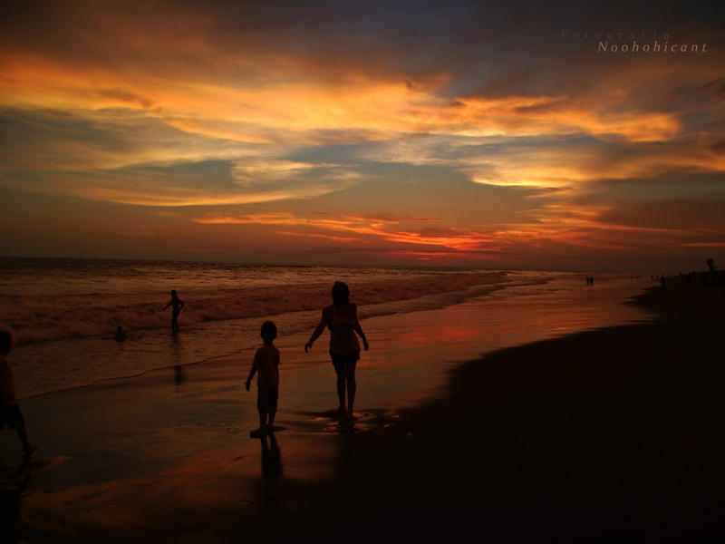 sunset on nuevo altata beach 7 by noohohIcant