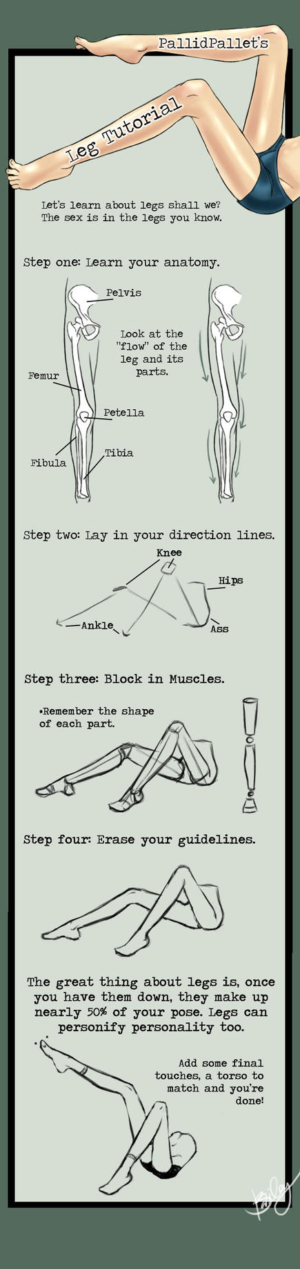 Legs Tutorial by KinderCollective