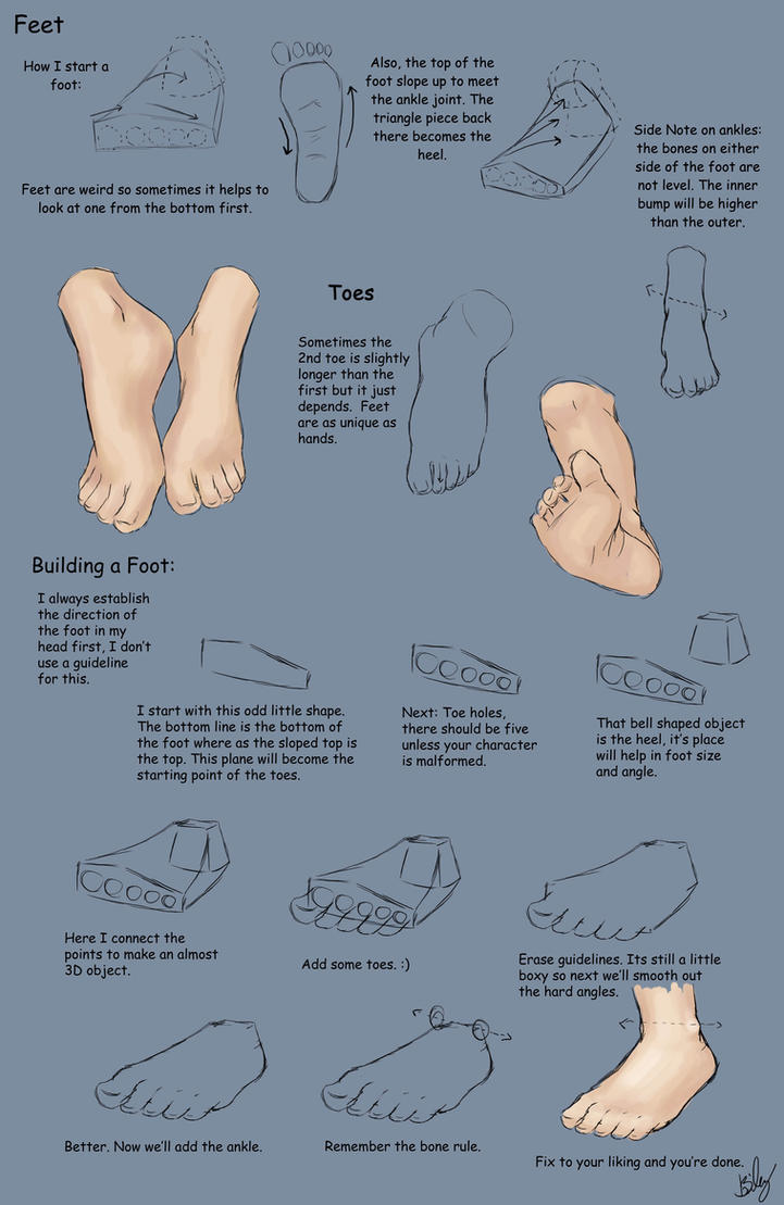 Feet Tutorial by KinderCollective