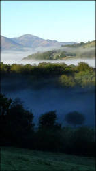 Morning mist on the Basque Country... by Annick55