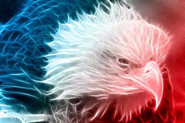 Red White And Blue Eagle By Luv2wander On Deviantart
