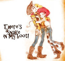 Woody and Jessie by faddawdle