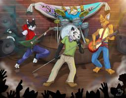 Super Crew on stage by Dragendorf