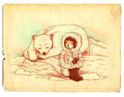 sleeping bear by mutsy