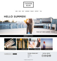 Template for fashion blog/shop