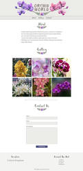 Orchid World Website Template
