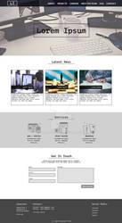 Office website design template