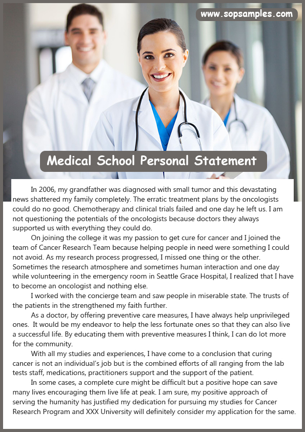 tips for writing a personal statement for medical school