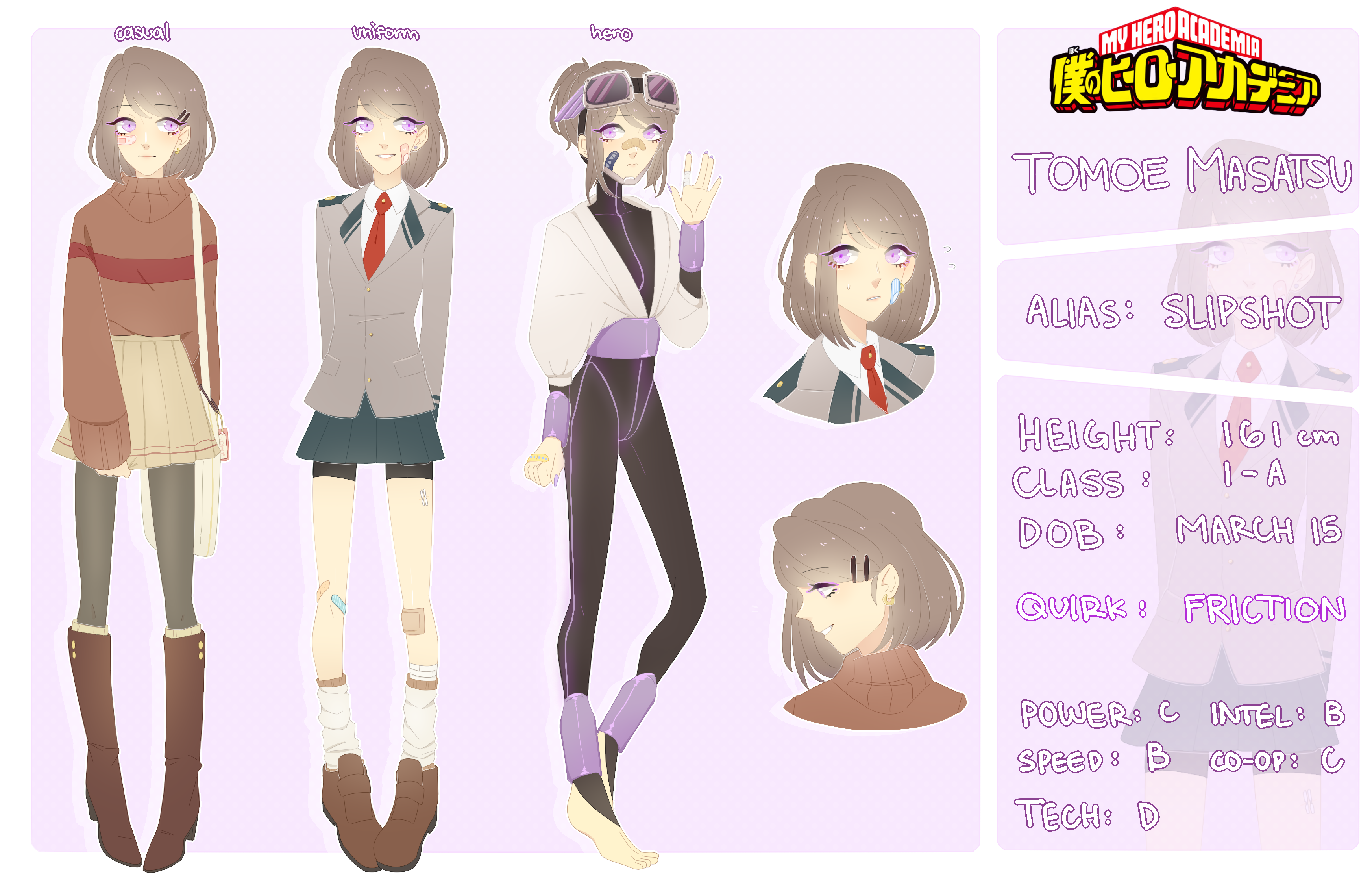 Bnha Oc Tomoe Bio By Seungcheol On Deviantart