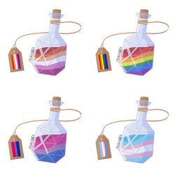 Pride bottles by peachbevv