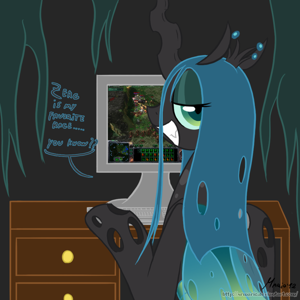 mlp__playing_starcraft_2_by_srmario-d5me