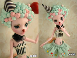 Custom monster high doll clown