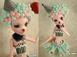 Custom monster high doll clown