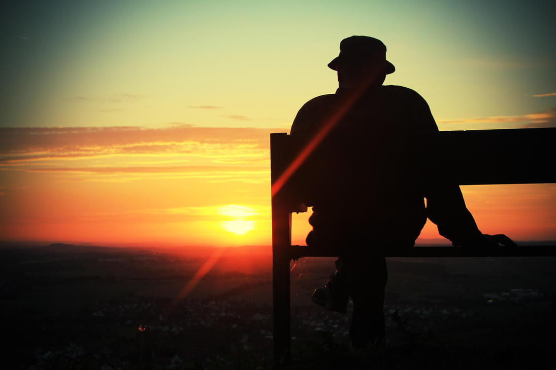 Old man sunset by TheLifeInFocus