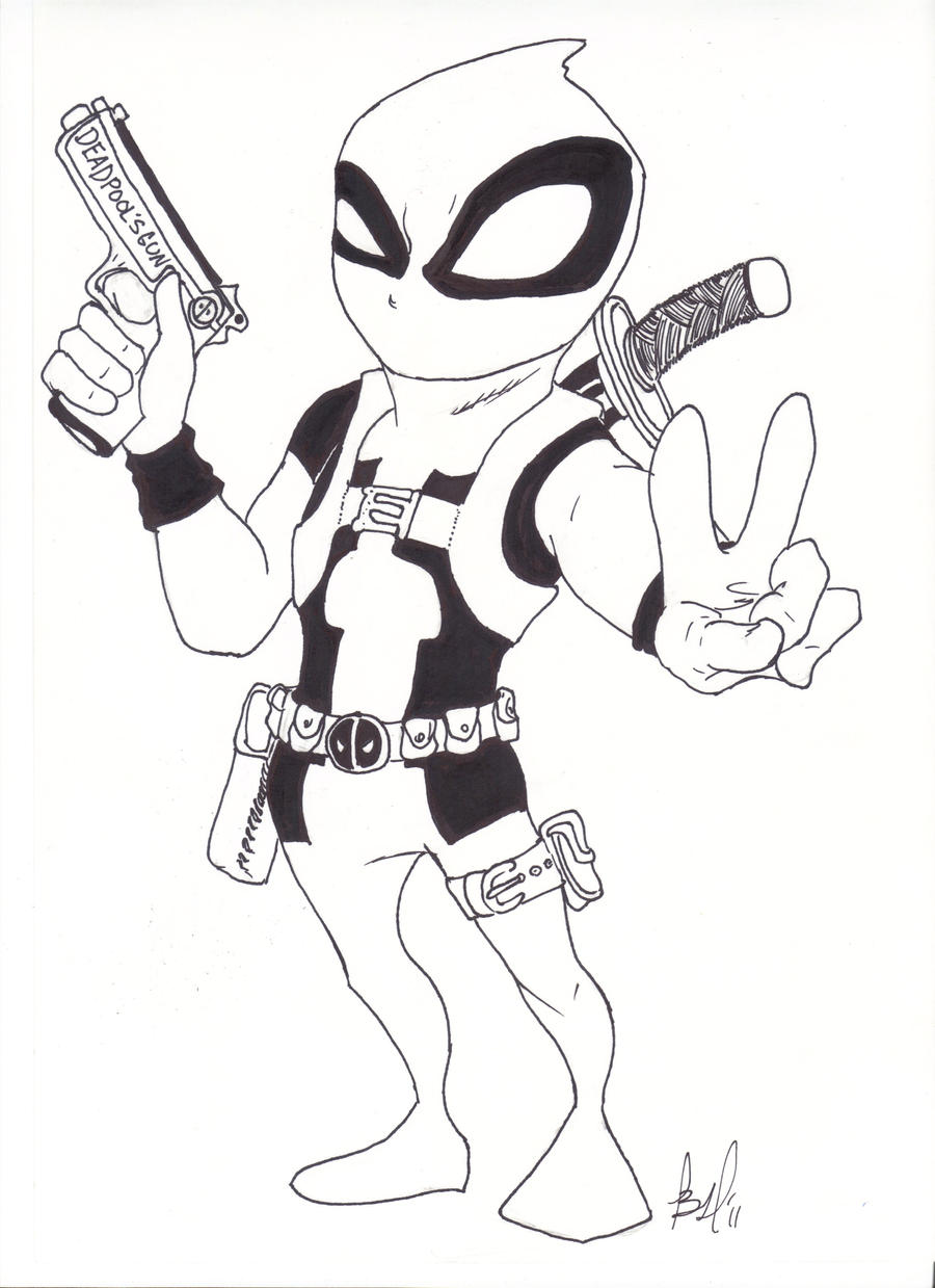 Image Result For Deadpool Coloring Page