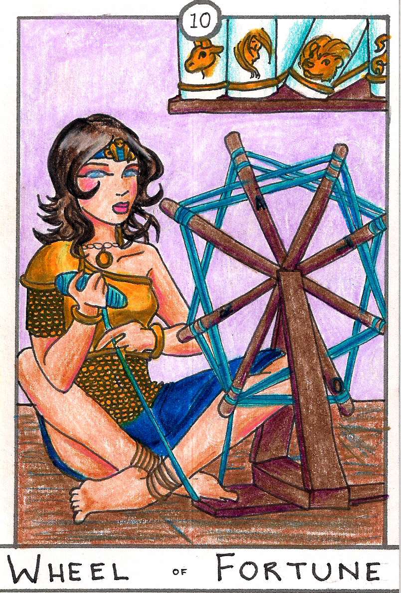Barefoot Tarot - Fortune Wheel by SparrowsHellcat