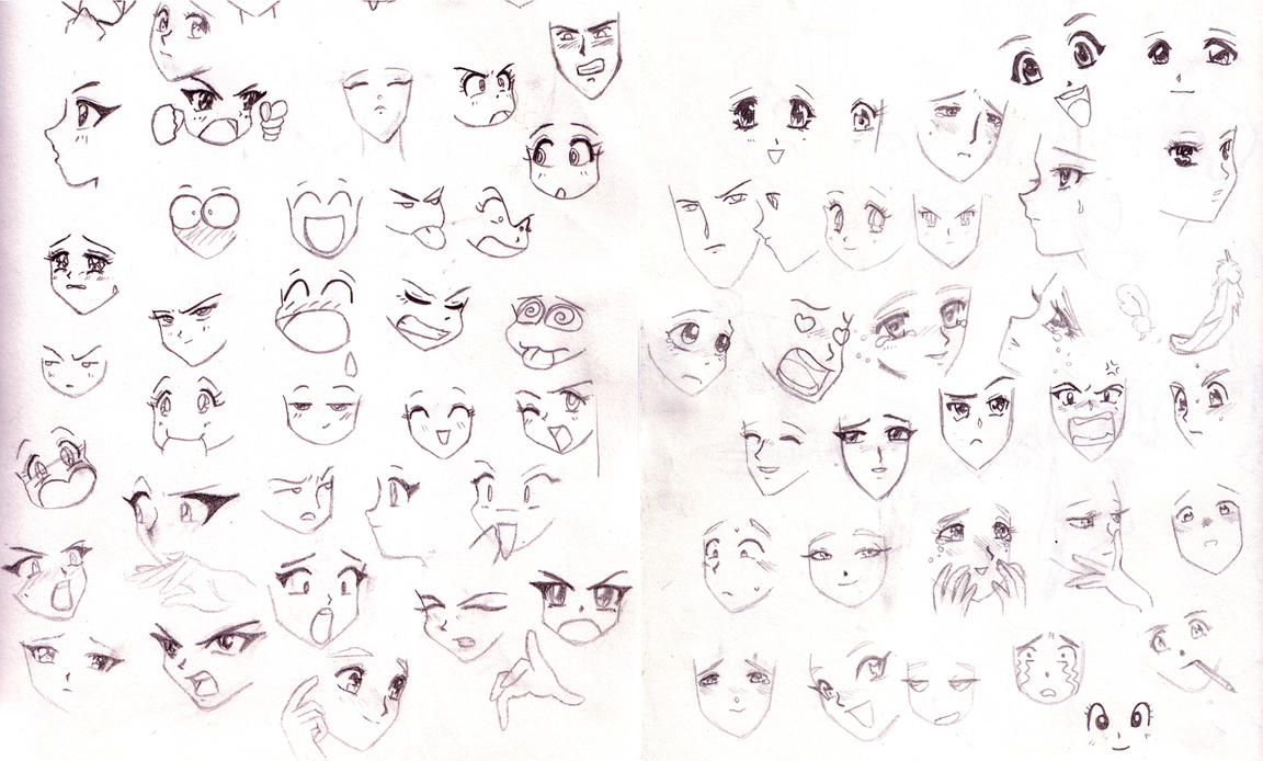 how to draw anime style faces