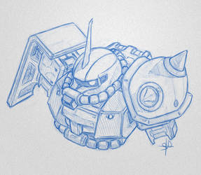 Zaku sketch by DreamsAddiction
