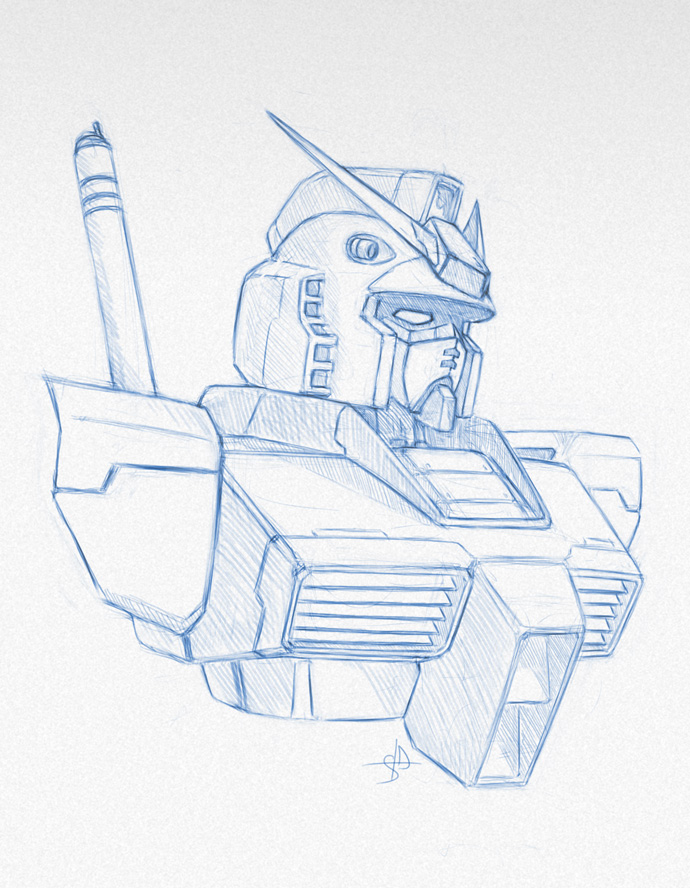 RX-78-2 sketch by DreamsAddiction
