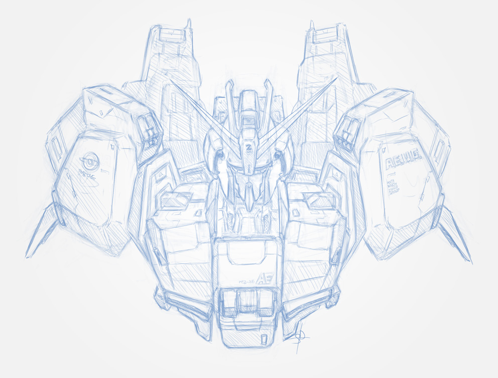 Z Gundam sketch by DreamsAddiction