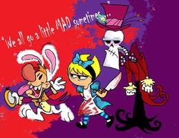 The Grim adventures in Wonderland by raggyrabbit94
