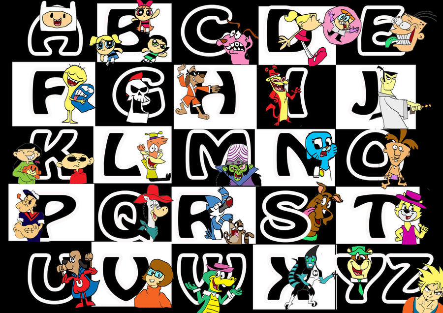 Cartoon Characters With 5 Letters In Their Name : Cartoon network alphabet by raggyrabbit on deviantart