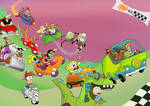 Cartoon Go-Karts