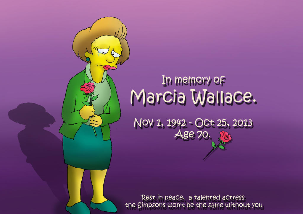 In memory of Marcia Wallace by raggyrabbit94
