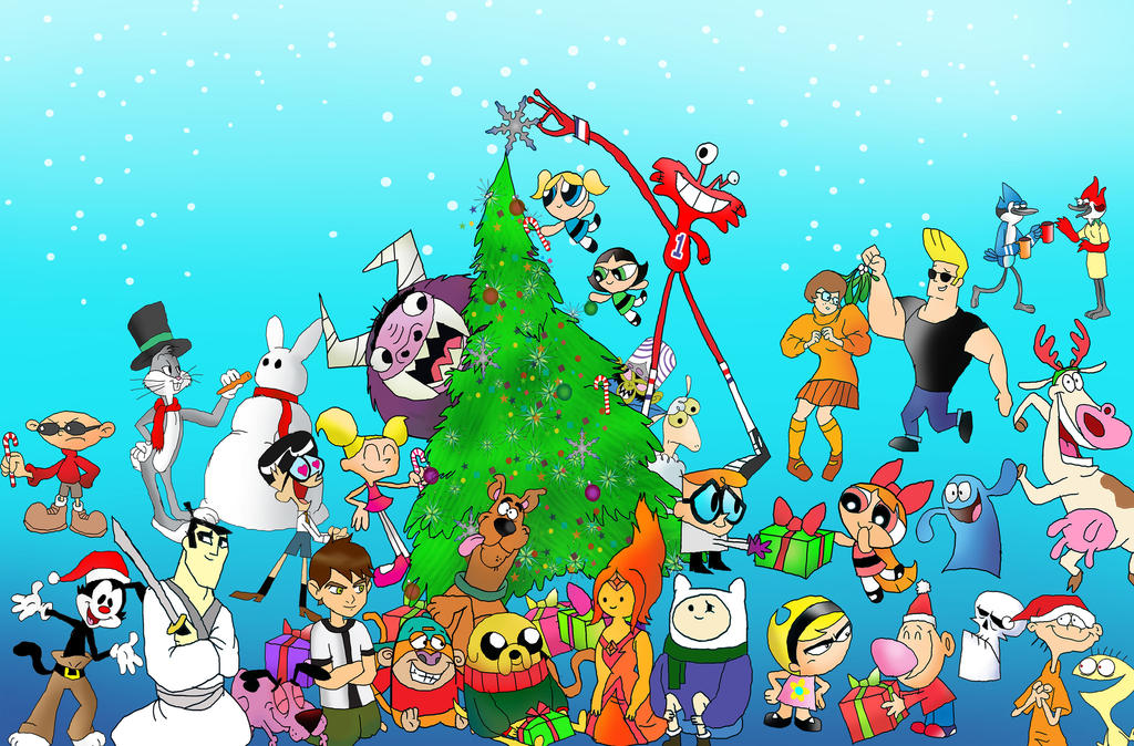 Christmas Party Images Cartoon.Cartoon Network Christmas Party By Raggyrabbit94 On Deviantart