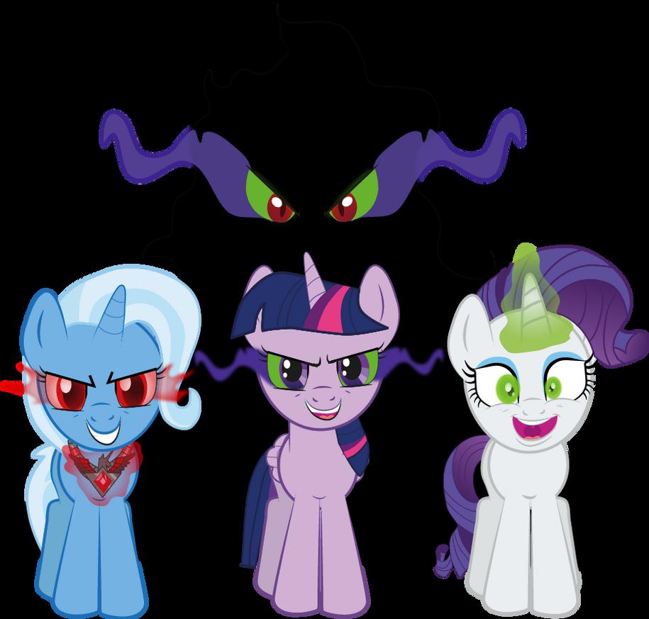 Dark Magic Ponies by raggyrabbit94
