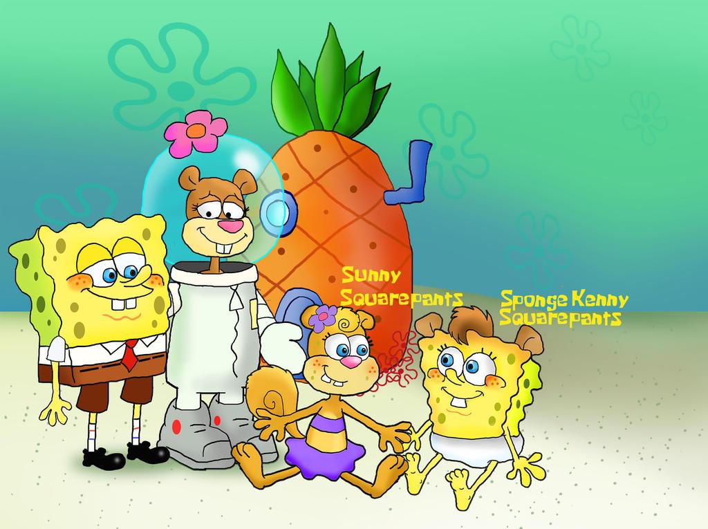 squarepants cheeks family by raggyrabbit94 on deviantart