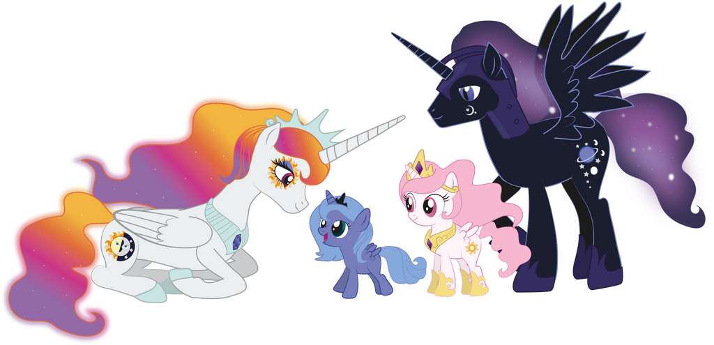 The Royal Alicorn Family By Raggyrabbit94 On Deviantart
