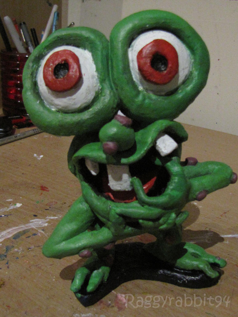 Mr Bumpy Clay Figure by raggyrabbit94