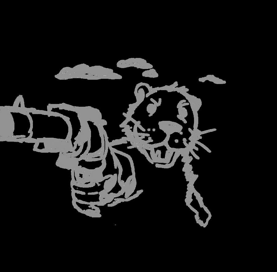 Otter with a gun by FirewolfNightNight