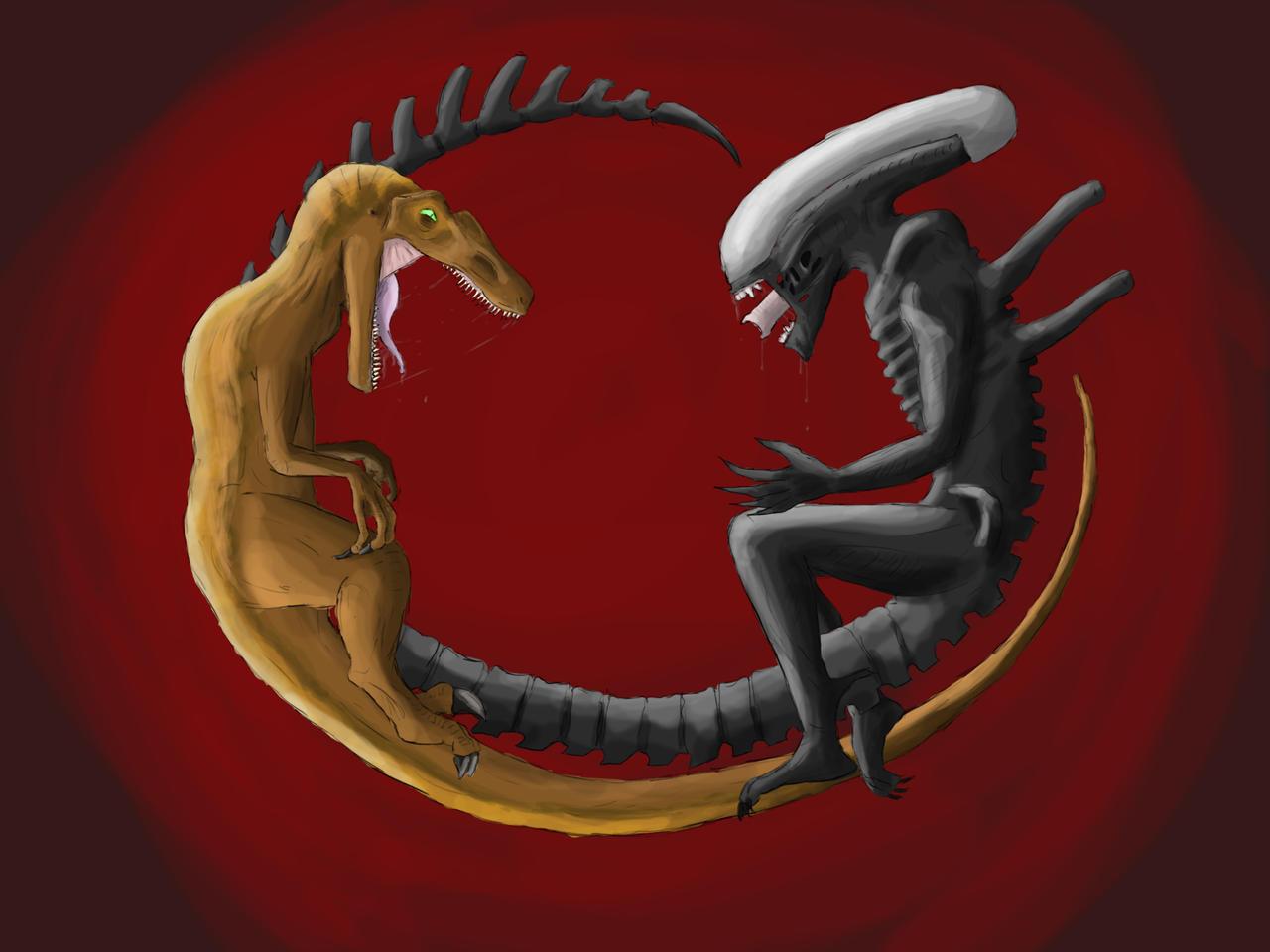 Alien vs Raptor by Thorex on DeviantArt