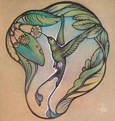 Hummingbird by Yullapa